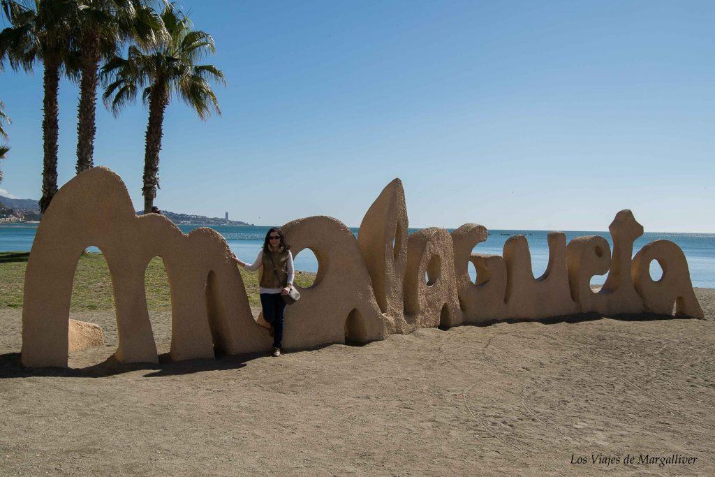 Playa de la malagueta en Málaga- Los viajes de Margalliver